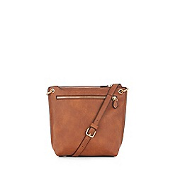 Warehouse - Double zip cross body bag