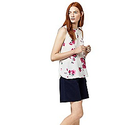 Warehouse - Delia floral woven front top