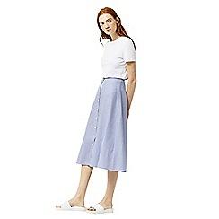 Warehouse - Stripe button through skirt