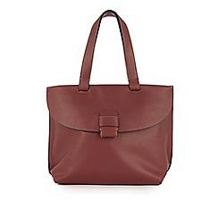 Warehouse - Stitch tab city shopper bag
