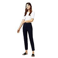 Warehouse - Textured slim leg trousers