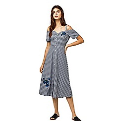 Warehouse - Delia embroidered midi dress