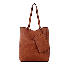 Warehouse - Casual folded stitch shopper bag