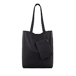 Warehouse - Casual folded stitch shopper bag