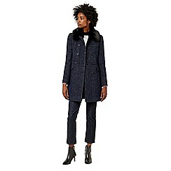 Warehouse - Swing faux fur collar coat