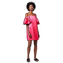 Warehouse - Satin off shoulder dress