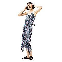 Warehouse - Floral hanky hem dress