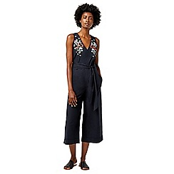 Warehouse - Freida embroidered jumpsuit