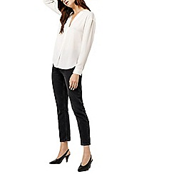 Warehouse - Long sleeves satin mix blouse