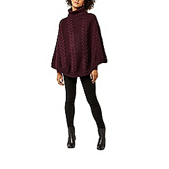 Warehouse - Cable knit poncho