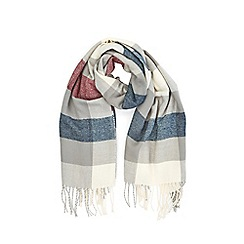 Warehouse - Mixed check large scarf