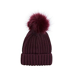 Warehouse - Faux fur pom pom hat