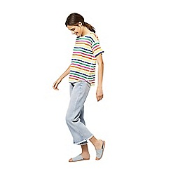 Warehouse - Rainbow stripe t-shirt