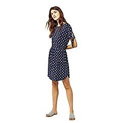 Warehouse - Navy swan print dress