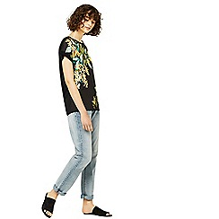 Warehouse - Tropical print woven front t-shirt