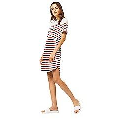 Warehouse - engineered stripe dress