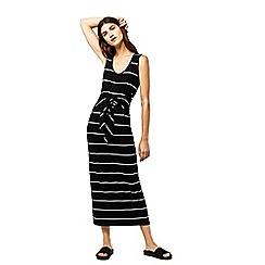 Warehouse - Stripe tie front maxi dress
