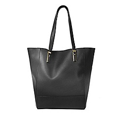 Warehouse - Metal plate detail shopper bag