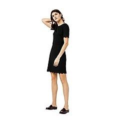Warehouse - Scallop ponte dress