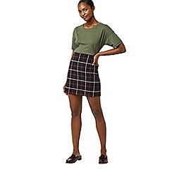 Warehouse - Check pelmet skirt
