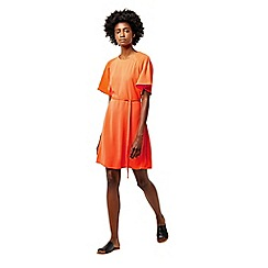 Warehouse - Pleated sleeve dress