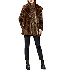 Warehouse - Faux fur coat