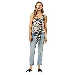 Warehouse - Amazon tie woven front top