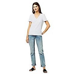 Warehouse - Slub v-neck t-shirt