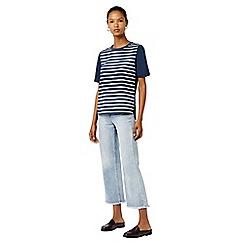 Warehouse - Cotton back stripe pocket t-shirt
