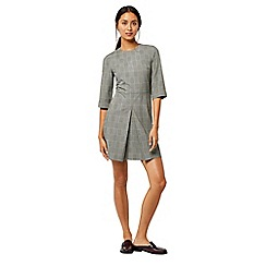 Warehouse - Mono check box pleat dress