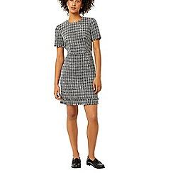 Warehouse - Mono tweed dress