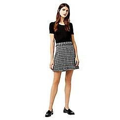 Warehouse - Mono tweed pelmet skirt