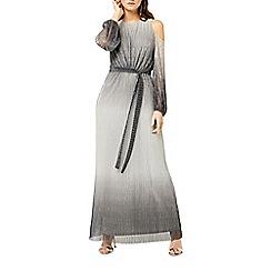 Warehouse - Ombre cold shoulder maxi dress