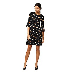Warehouse - Florence flute sleeves dress