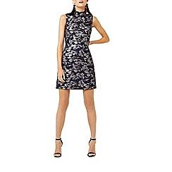 Warehouse - Floral jacquard shift dress