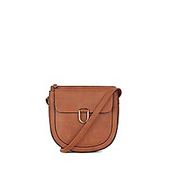 Warehouse - Tan large d ring saddle crossbody bag