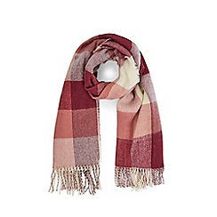 Warehouse - Burgundy square check scarf