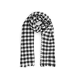 Warehouse - Dogtooth and check scarf