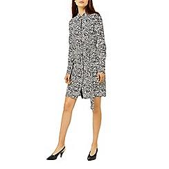 Warehouse - Zebra print shirt dress