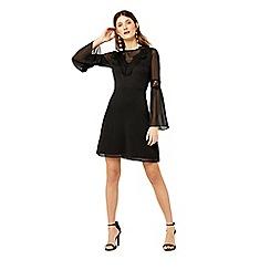 Warehouse - Lace neck trim dress