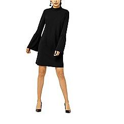 Warehouse - Flute sleeves crepe dress