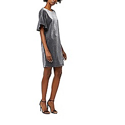 Warehouse - Metallic tunic dress