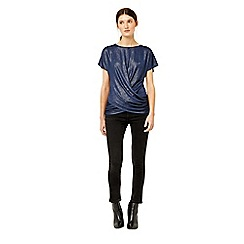 Warehouse - Metallic knot front top