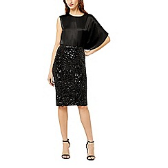 Warehouse - Velvet sequin midi skirt