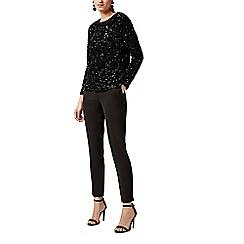 Warehouse - Sequin velvet long sleeves top