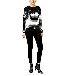 Warehouse - Stripe lace jumper