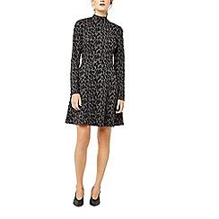 Warehouse - Leopard jacquard polo dress