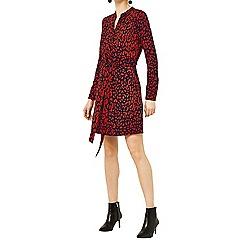 Warehouse - Leopard print shirt dress