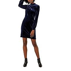 Warehouse - Velvet tie back dress