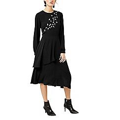 Warehouse - Swallow embroidered midi dress